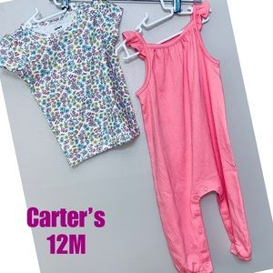 🦋2 for $15🦋Carter's  baby girl 12 month set